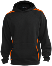 Family Sleeve Stripe Sweatshirt with Jersey Lined Hood