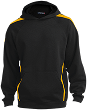 Downing School Lions Sleeve Stripe Sweatshirt with Jersey Lined Hood