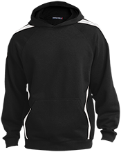 Center Middle School Mustangs Sleeve Stripe Sweatshirt with Jersey Lined Hood
