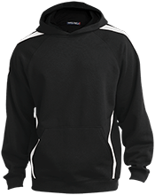 Manchester Christian Academy Knights Sleeve Stripe Sweatshirt with Jersey Lined Hood