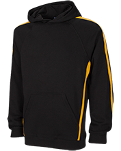 A J Griffin Middle Hawks Sleeve Stripe Sweatshirt with Jersey Lined Hood