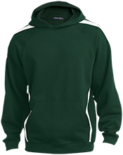 Hillcrest Academy Huskies Sleeve Stripe Sweatshirt with Jersey Lined Hood