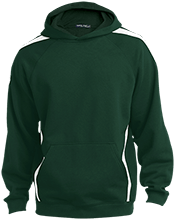 Christian Community School Warriors Sleeve Stripe Sweatshirt with Jersey Lined Hood
