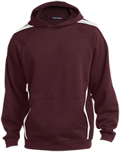 Milwaukie High School Mustangs Sleeve Stripe Sweatshirt with Jersey Lined Hood