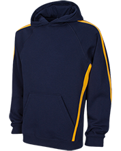 A R Carethers Academy Eagles Sleeve Stripe Sweatshirt with Jersey Lined Hood