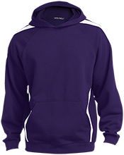 Rex Elementary School Roadrunners Sleeve Stripe Sweatshirt with Jersey Lined Hood
