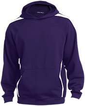 Lamont Christian School Sleeve Stripe Sweatshirt with Jersey Lined Hood