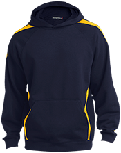 Maranatha Baptist Bible College Crusaders Sleeve Stripe Sweatshirt with Jersey Lined Hood