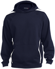 Elston Middle School Wolves Sleeve Stripe Sweatshirt with Jersey Lined Hood