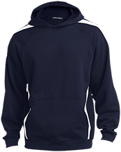 Lighthouse Christian Academy Leopards Sleeve Stripe Sweatshirt with Jersey Lined Hood