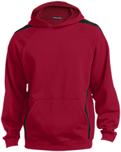 Capital Christian School Conquers Sleeve Stripe Sweatshirt with Jersey Lined Hood