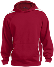 Lamar Middle School Longhorn Sleeve Stripe Sweatshirt with Jersey Lined Hood