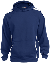Notre Dame-Cathedral Latin School Lions Sleeve Stripe Sweatshirt with Jersey Lined Hood