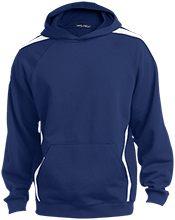 Abbie L Tuller School School Sleeve Stripe Sweatshirt with Jersey Lined Hood
