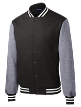 Tennis Fleece Letterman Jacket