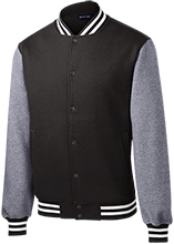 J F Kennedy Elementary School School Fleece Letterman Jacket