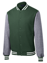 Greenfield High School Green Wave Fleece Letterman Jacket
