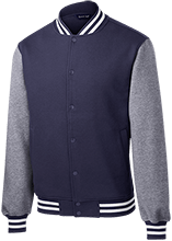Bennett Woods Elementary School Trailblazers Fleece Letterman Jacket
