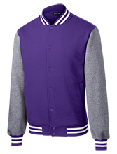 Cedar Wood Elementary School Seawolves Fleece Letterman Jacket
