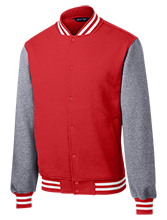 Bellefontaine Middle School Chieftain Fleece Letterman Jacket