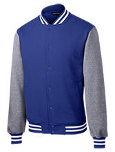 Jonesville Elementary School Blue Jays Fleece Letterman Jacket
