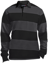 Friendtek Game Design Sport-Tek Long Sleeve Rugby Polo