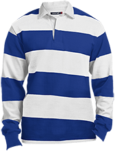 Shoals High School Jug Rox Sport-Tek Long Sleeve Rugby Polo