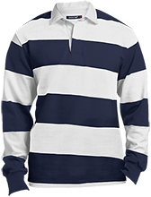 Lansing Eastern High School Quakers Sport-Tek Long Sleeve Rugby Polo