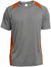 Sports Training Custom Printed Heather Colorblock Poly T-shirt