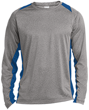 Malverne High School Long Sleeve Heather Colorblock Poly T-shirt