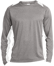 Manchester East Soccer Long Sleeve Heather Colorblock Poly T-shirt