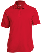 The Heritage High School Hawks Micropique Tag-Free Flat-Knit Collar Polo