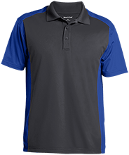Stewart 5th Grade School Mustangs Men's Colorblock Sport-Wick Polo