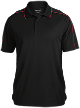 The Heritage High School Hawks Micropique Sport-Wick Piped Polo