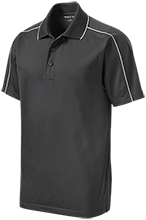 Elm City Elementary School Eagles Micropique Sport-Wick Piped Polo