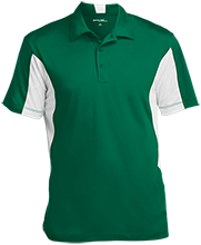 Adams Middle School Raccoons Men's Colorblock Performance Polo