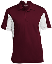 Nutley High School Maroon Raiders Men's Colorblock Performance Polo