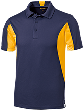 Bethesda Christian School Eagles Men's Colorblock Performance Polo