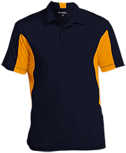 Aquinas High School Blugolds Men's Colorblock Performance Polo