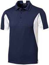 Elm City Elementary School Eagles Men's Colorblock Performance Polo