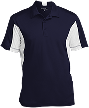 Earle B Wood Middle School Mustangs Men's Colorblock Performance Polo