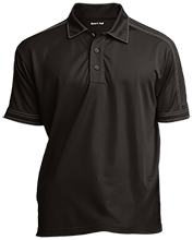 Chestnut Log Middle School Bears Contrast Stitch Performance Polo