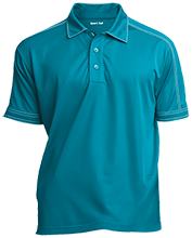 William H Hunter Elementary School Hawks Contrast Stitch Performance Polo