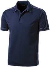 Flanders Elementary School Rams Contrast Stitch Performance Polo