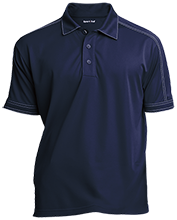 Carter G Woodson School Of Challenge Eagle Contrast Stitch Performance Polo