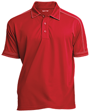 Alternative Education Center School Contrast Stitch Performance Polo