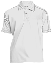 Akiva School Contrast Stitch Performance Polo