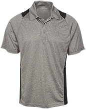 Topeka High School Trojans Heather Moisture Wicking Polo