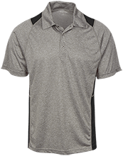 Adams Middle Panthers Heather Moisture Wicking Polo