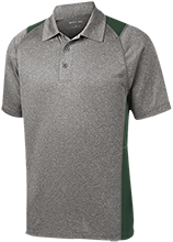 Alpena High School Wildcats Heather Moisture Wicking Polo